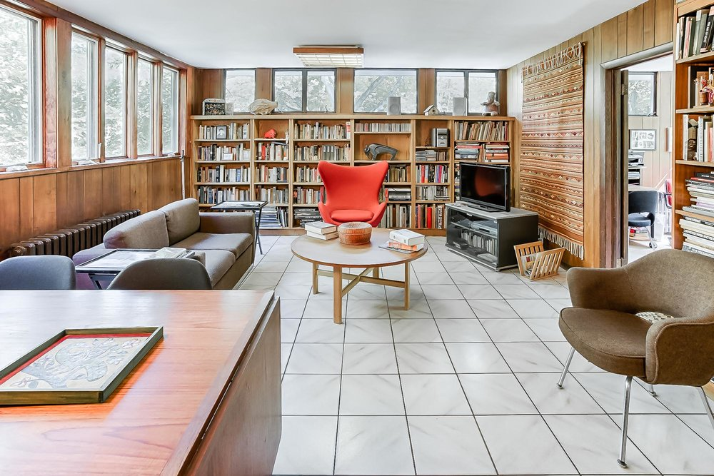 photo of the study in a home for sale in cold spring ny