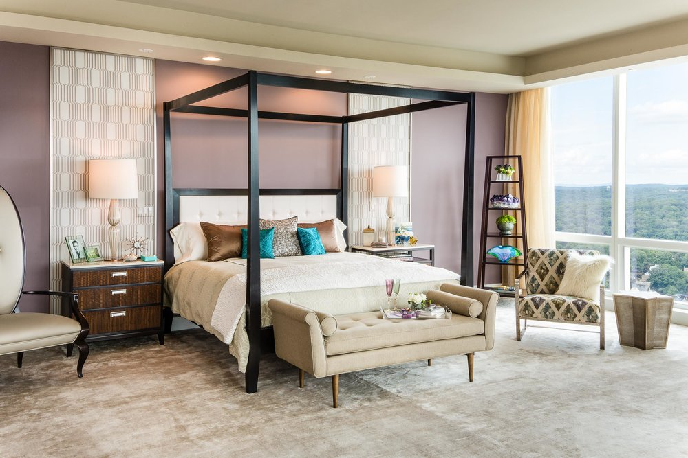 Beautiful Bedroom in Luxury Condominium at the Ritz Carlton in Westchester County, NY.