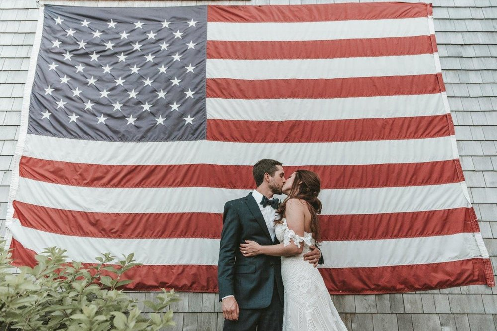 american flag wedding reception