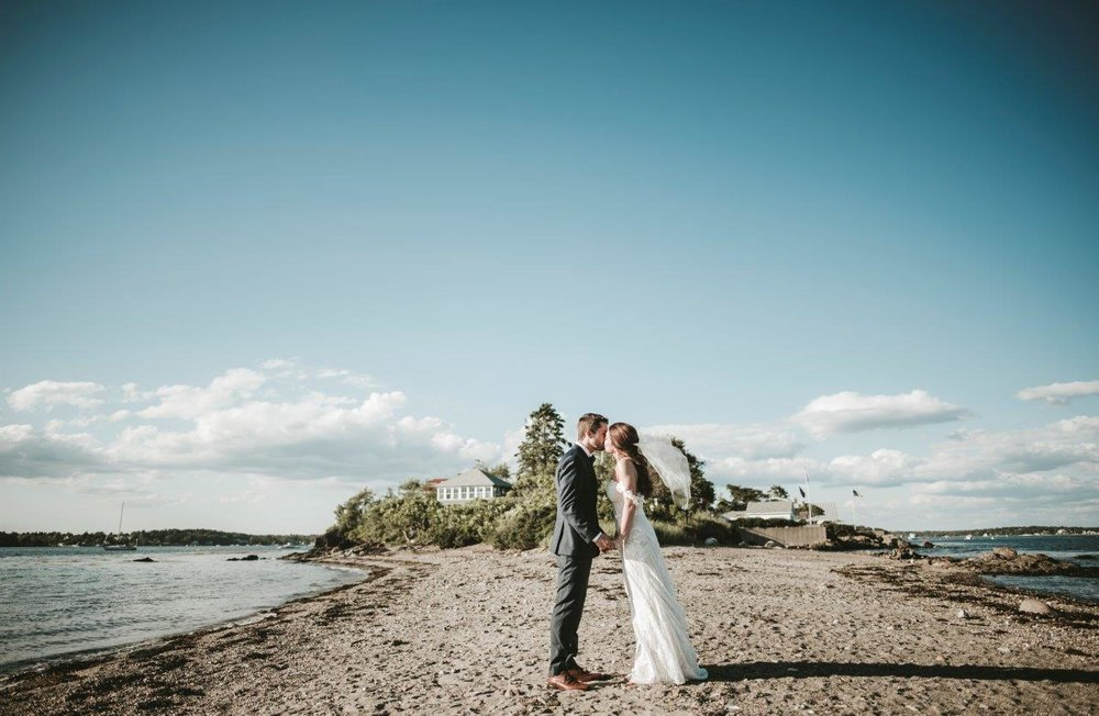 beach maine summer wedding
