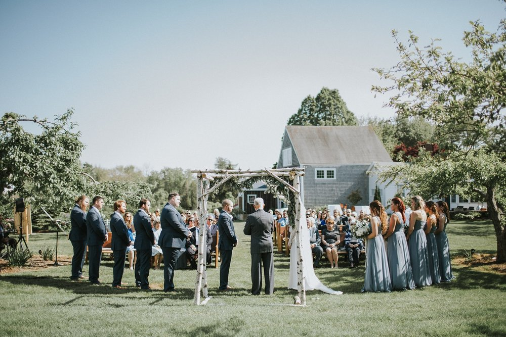 outdoor wedding ceremony maine