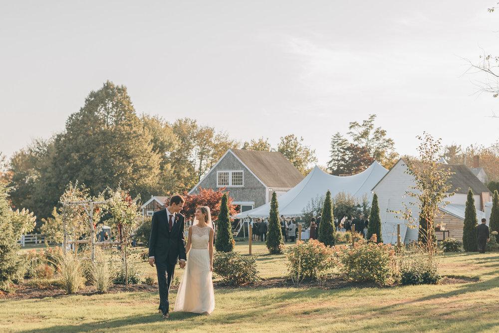 sunset wedding outdoor maine