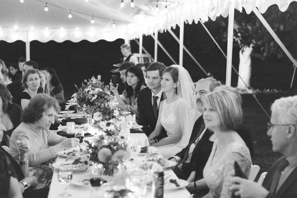 tent wedding reception toasts live well farm