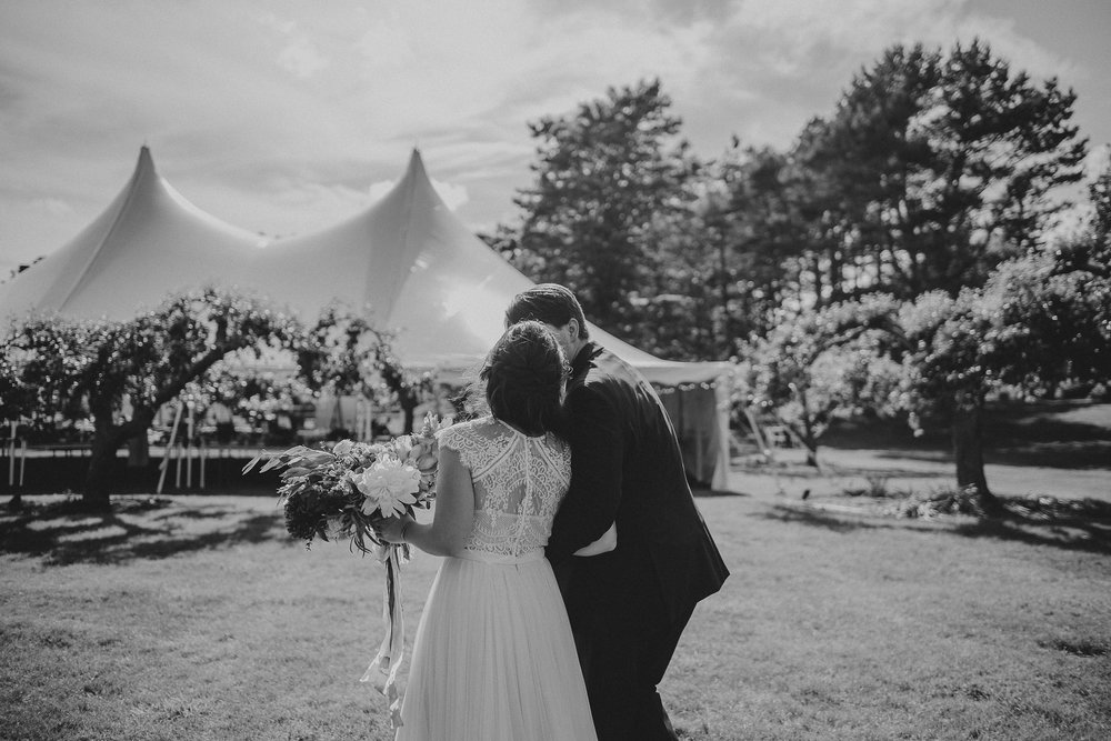 outdoor tent wedding reception maine estate