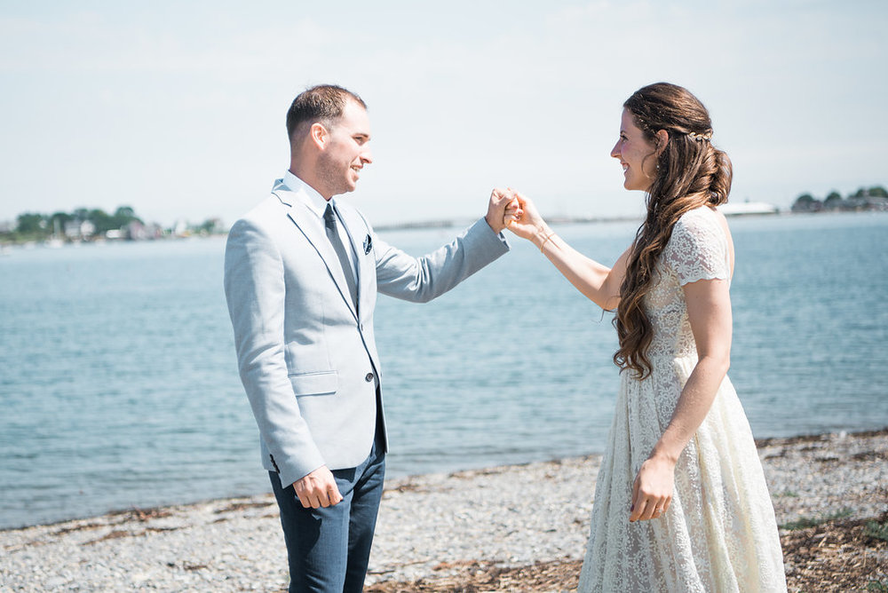 beach photos coastal maine wedding