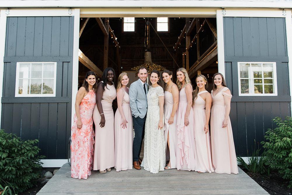 wedding party live well farm maine
