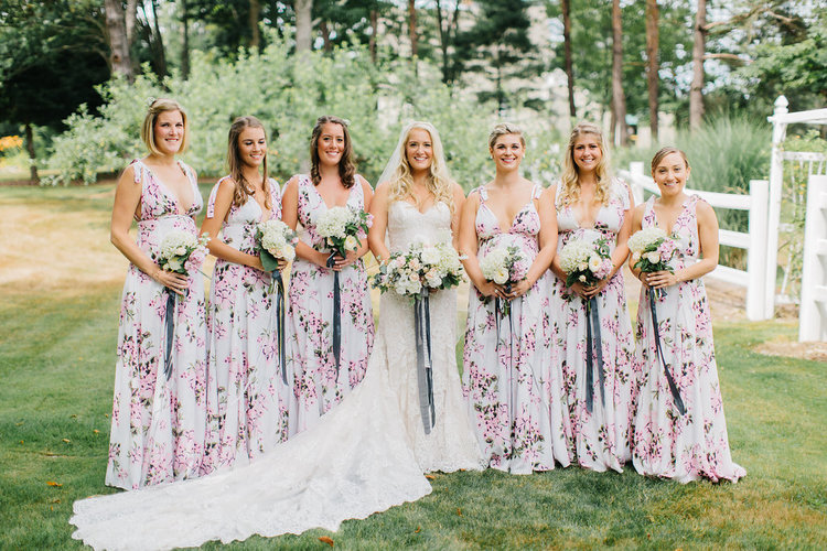 floral bridesmaid dresses live well farm