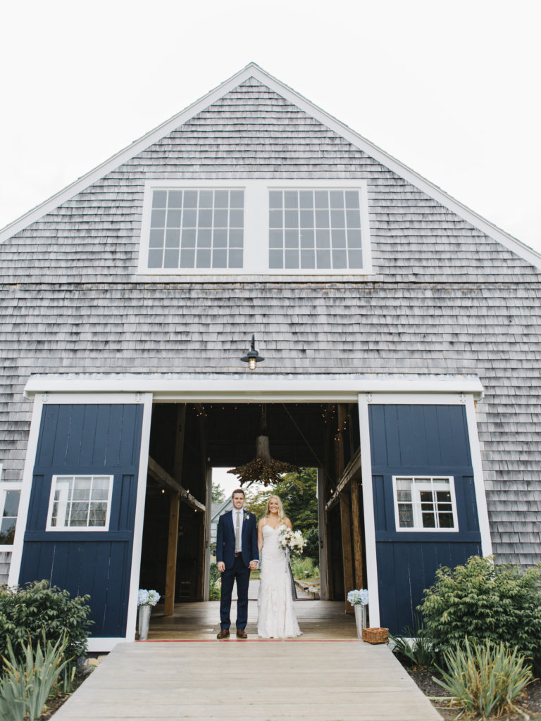 elegant maine barn wedding
