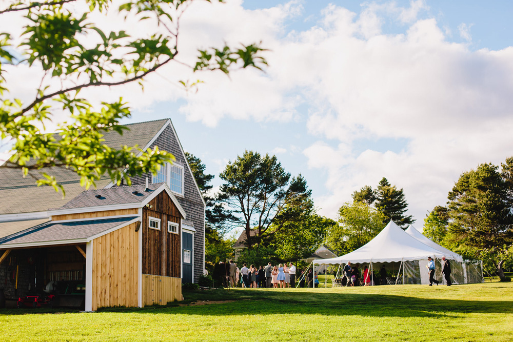 live well farm tented wedding reception garden