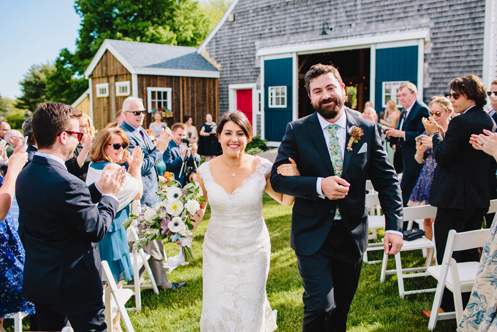 outdoor garden wedding ceremony maine summer