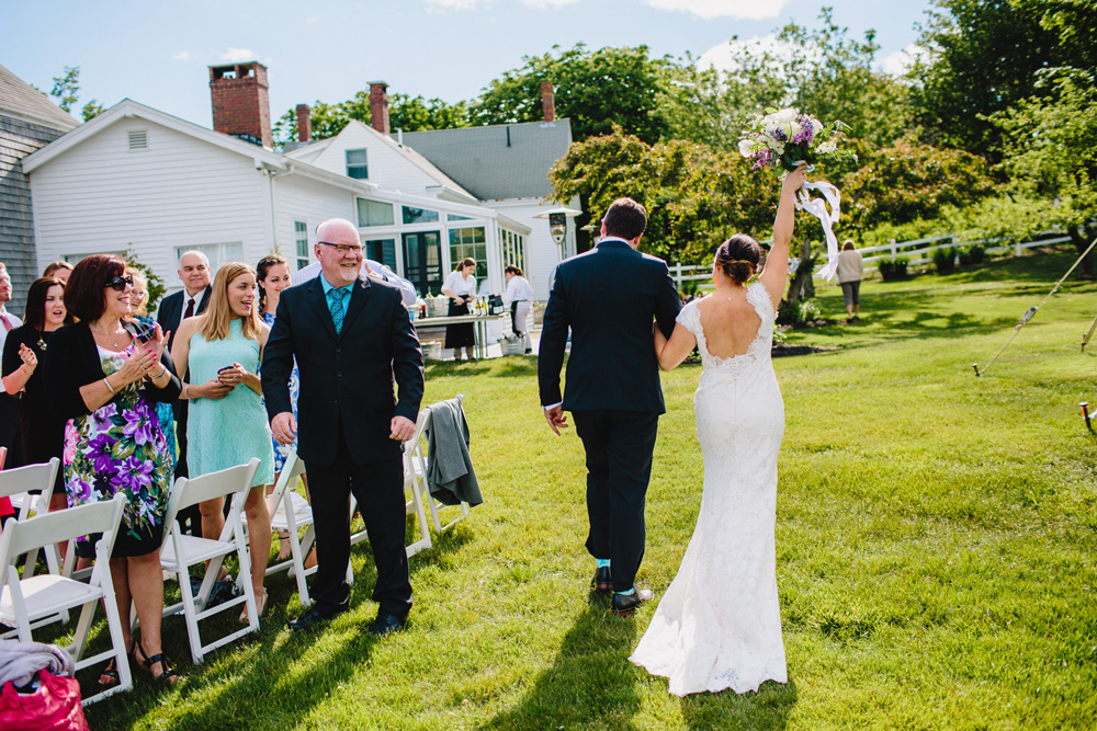 outdoor maine wedding ceremony