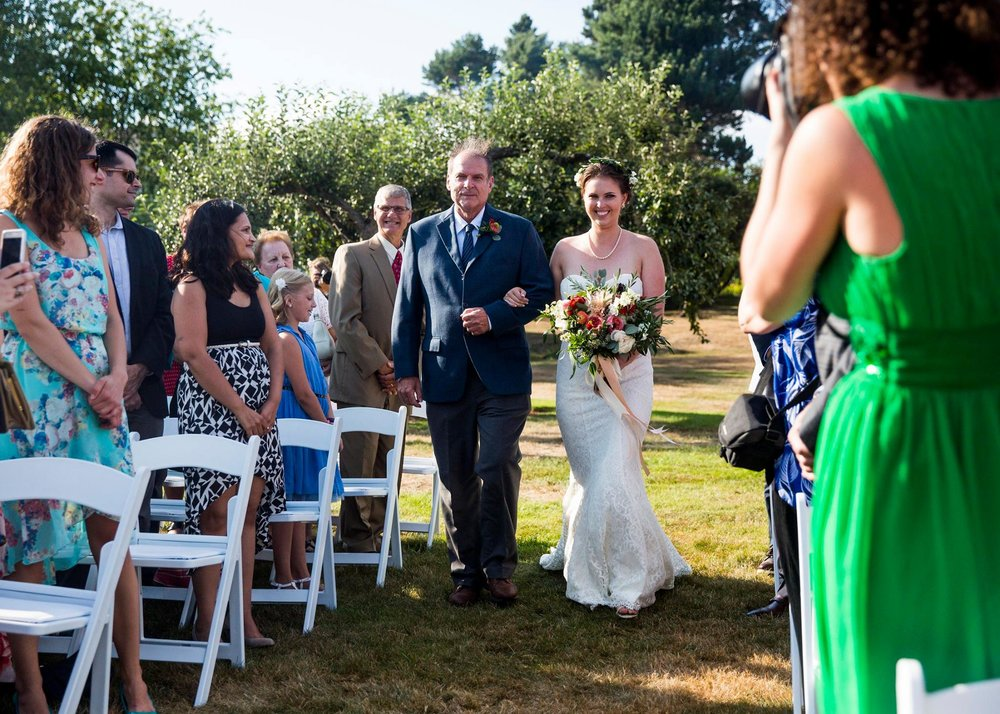 outdoor ceremony apple orchard maine