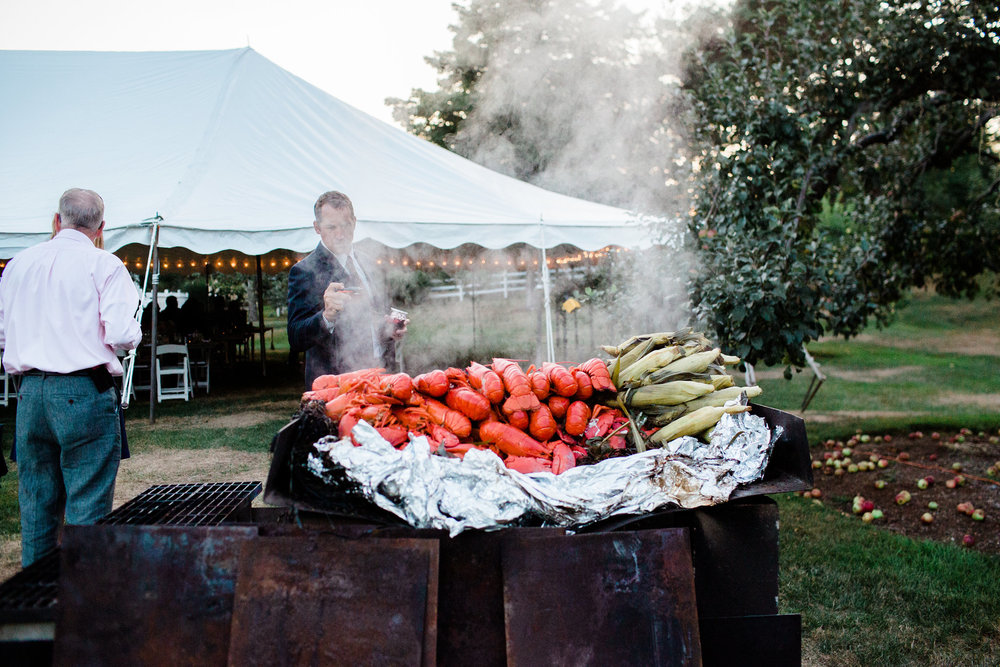 maine wedding lobster bake