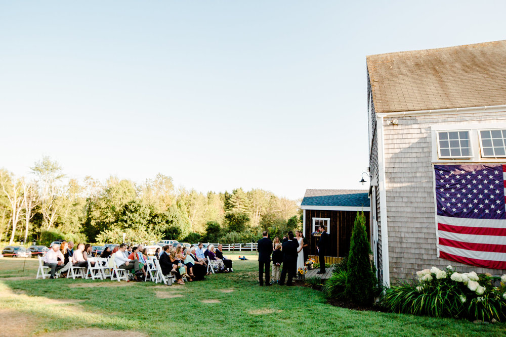 outdoor wedding ceremony backyard