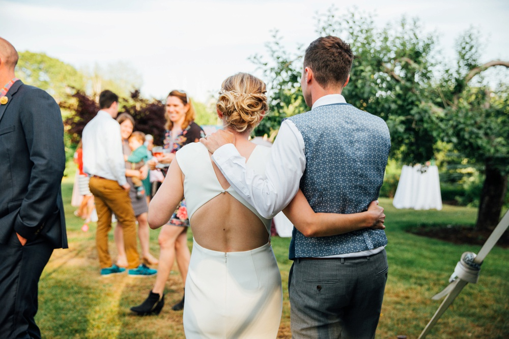 summer outdoor wedding maine coast garden