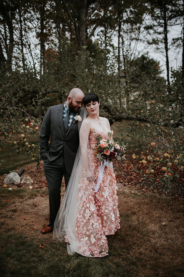 edgy maine outdoor wedding