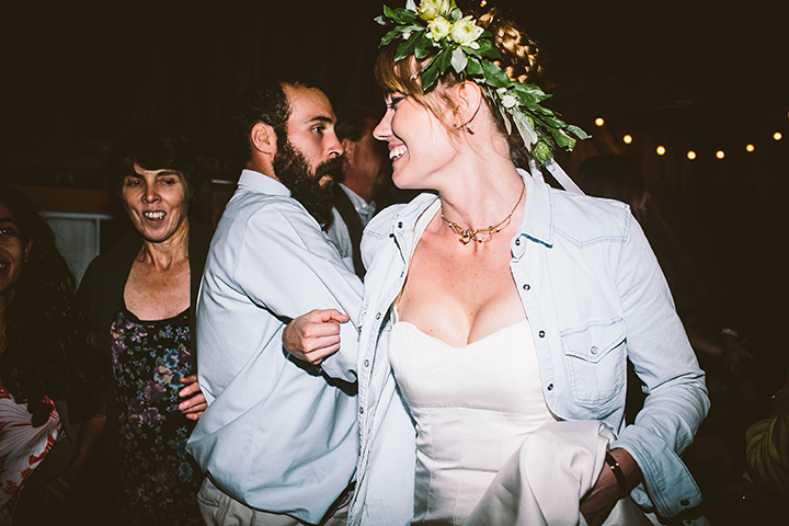barn dance flower crown bride