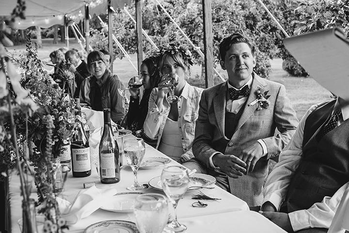 tent wedding reception farm tables