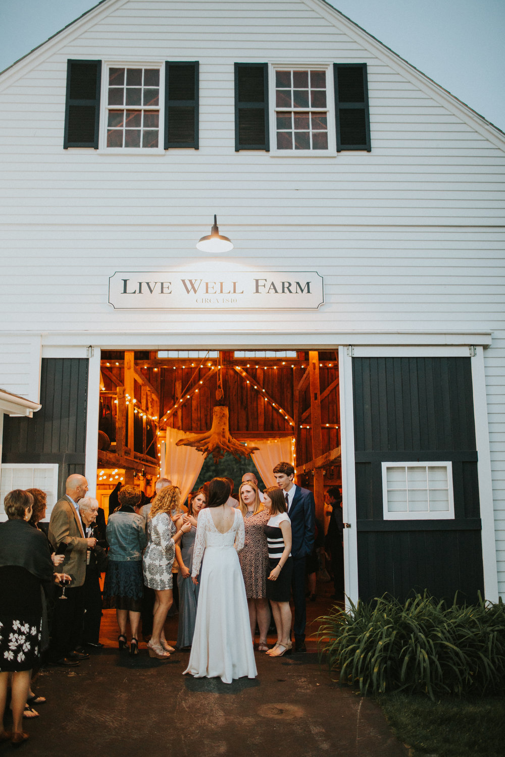 summer wedding live well farm maine