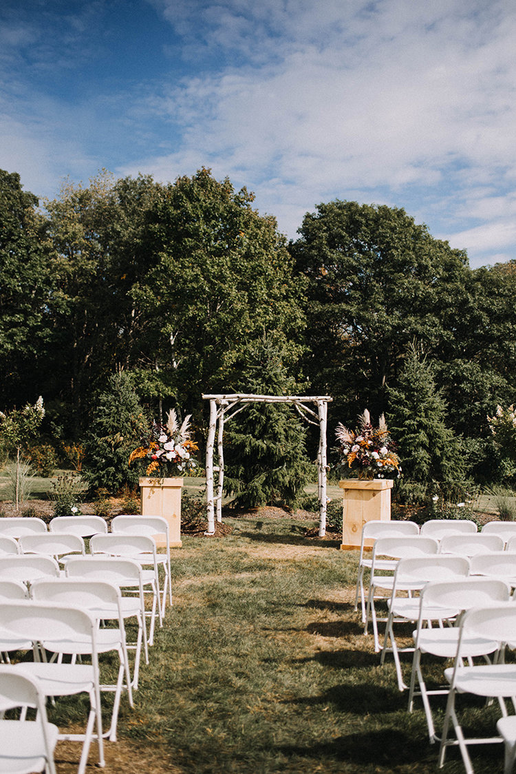 fall wedding live well farm maine