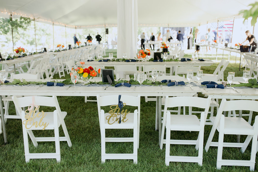 maine summer tent wedding reception