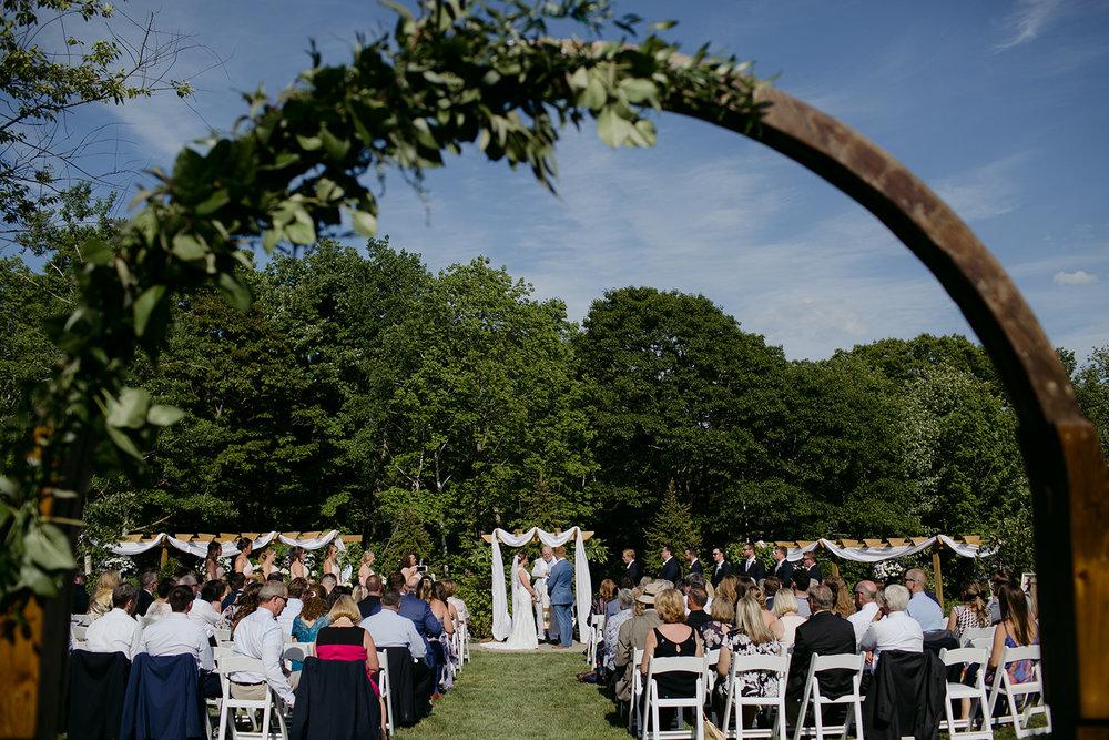 coastal maine garden wedding