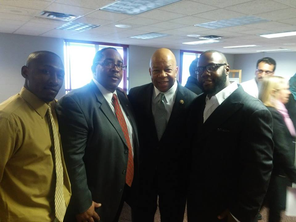 Anthony Turner - SBEV Development Director, Timothy Siddiq - SBEV Board of Director, Leon El-Alamin - DExecutive Director of MADE Institute and the Honorable Elijah Cummings U.S. House of Representatives at the Broome Center discussing the Flint Water Crisis!