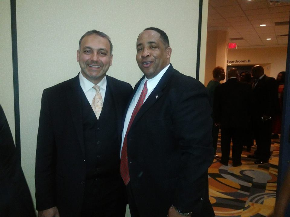 Dr. Jawad Shah MD and Anthony Turner SBEV Development Director supporting the NAACP!