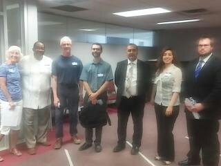 Dr. Shah with Student and Professors from U of M - Flint at the Broome Center for a Flint Water Crisis discussion.
