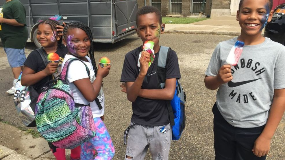 Students treated to back to school barbecue in Flint