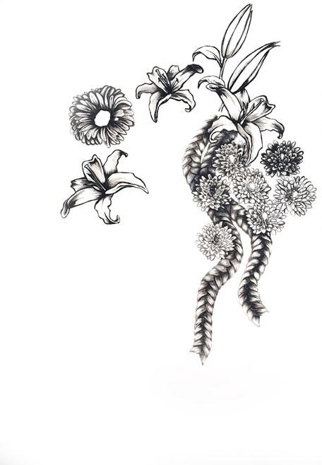 Briaded Flowers