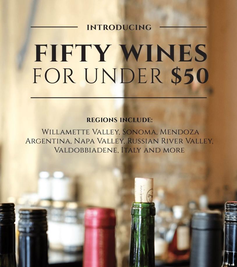 Score: 6.310% Open, 8% Clicks, 4 Shares - Mia Bella50 Wines Under $50