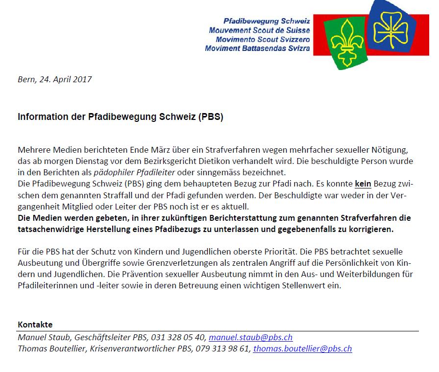 Stellungsnahme PBS