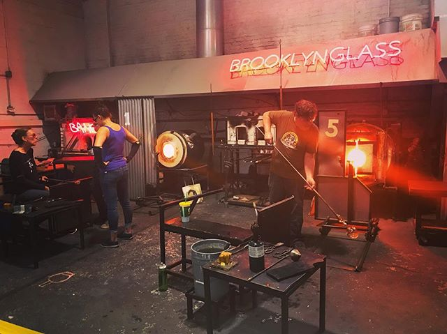 Brooklyn Glass tour @brooklynglass @openhousenewyork #ohny #glassblowing