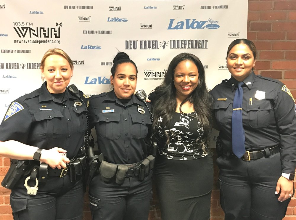 "Today on ""The Talk-sip"" host Alisa Bowen-Mercado talks police recruitment with her guest Officer Jinett Marte, Officer Yelena Borisova, and Sergeant Maneet Colon. The New Haven Police Department is hiring, and applications will be available June 5-23, 2017 at www.policeapp.com."