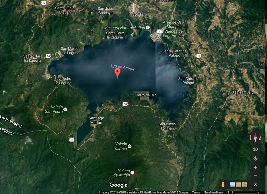 It's a beautiful view to look at Lake Atilan from google earth.
