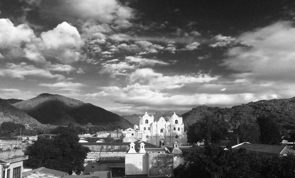 A cathedral from our roof in Antigua - photo by borkgren