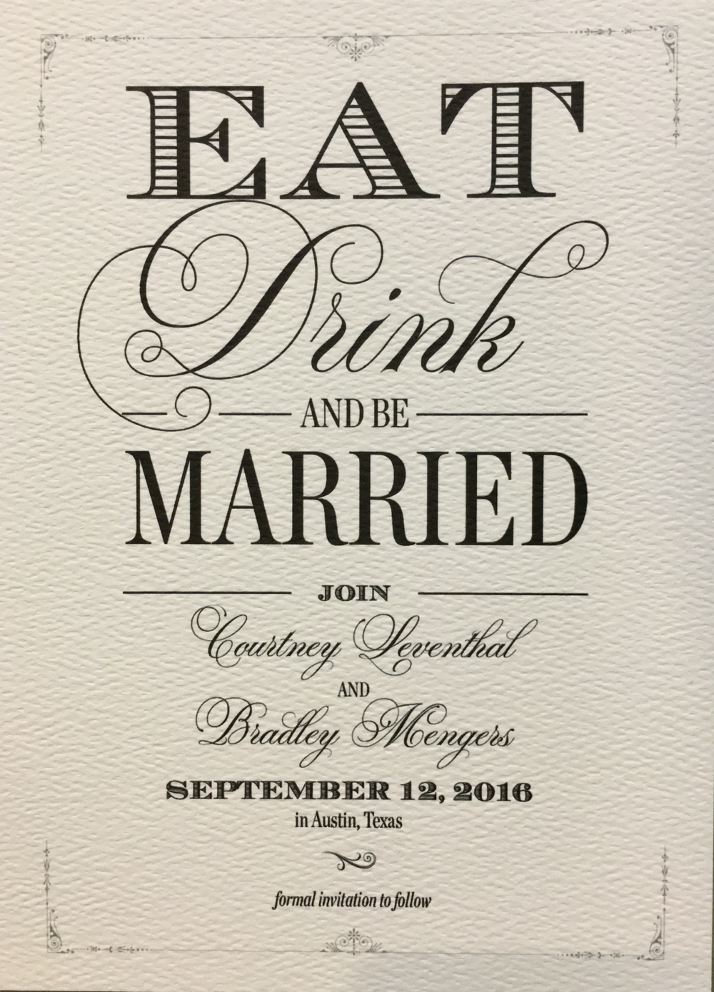 Save the Dates LM invitations