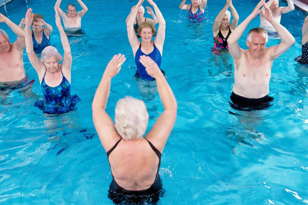 Aqua Arthritis - This class is in the therapy pool. It is a safe and gentle fitness class designed specifically for those with arthritis. Improve cardio, range of motion and your muscles at your own pace!