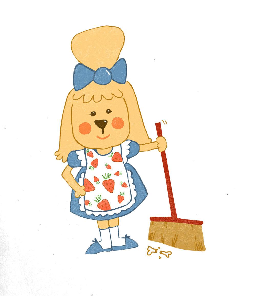 Cleaning lady dog.jpg