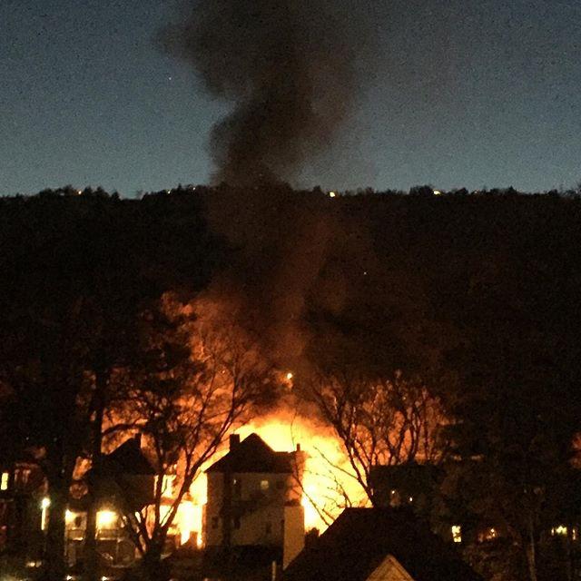 The fiery blaze