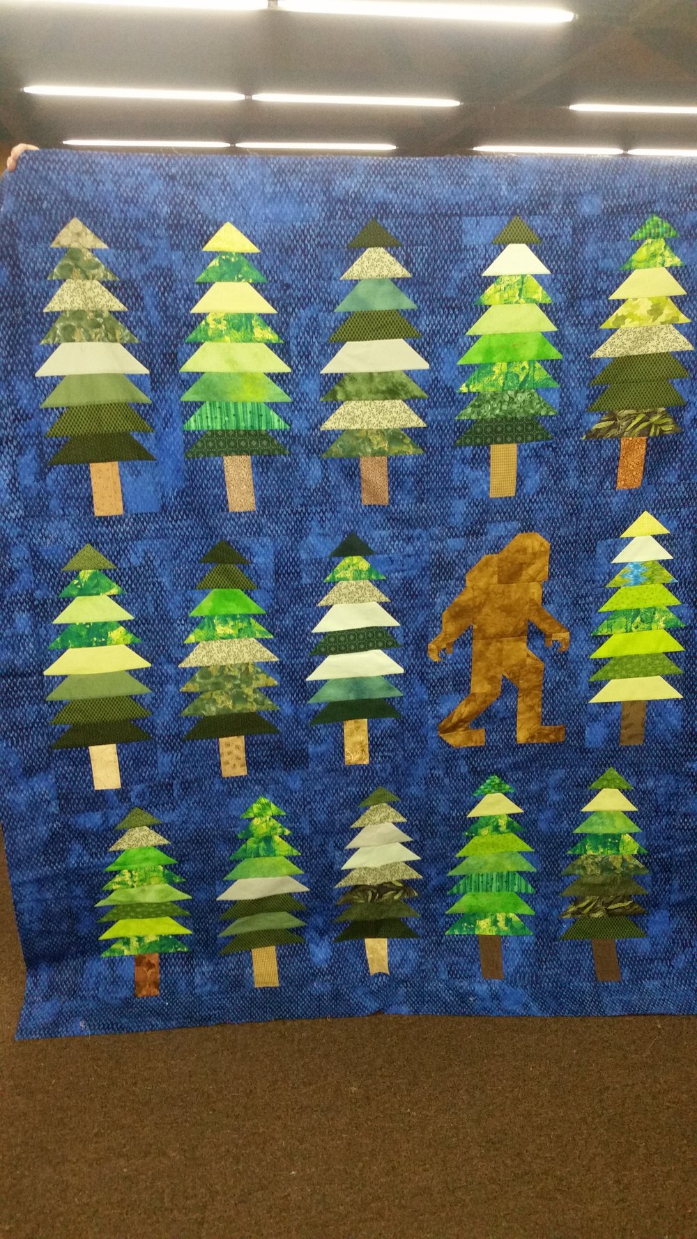"""Big Foot"" Quilt by Nina Gilliland"