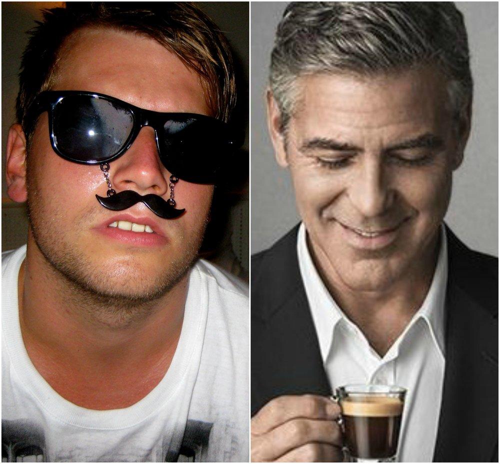 """TVILLINGER: Martin """"Mr. Nespresso"""" Bach Johnsen og George Lucas."""