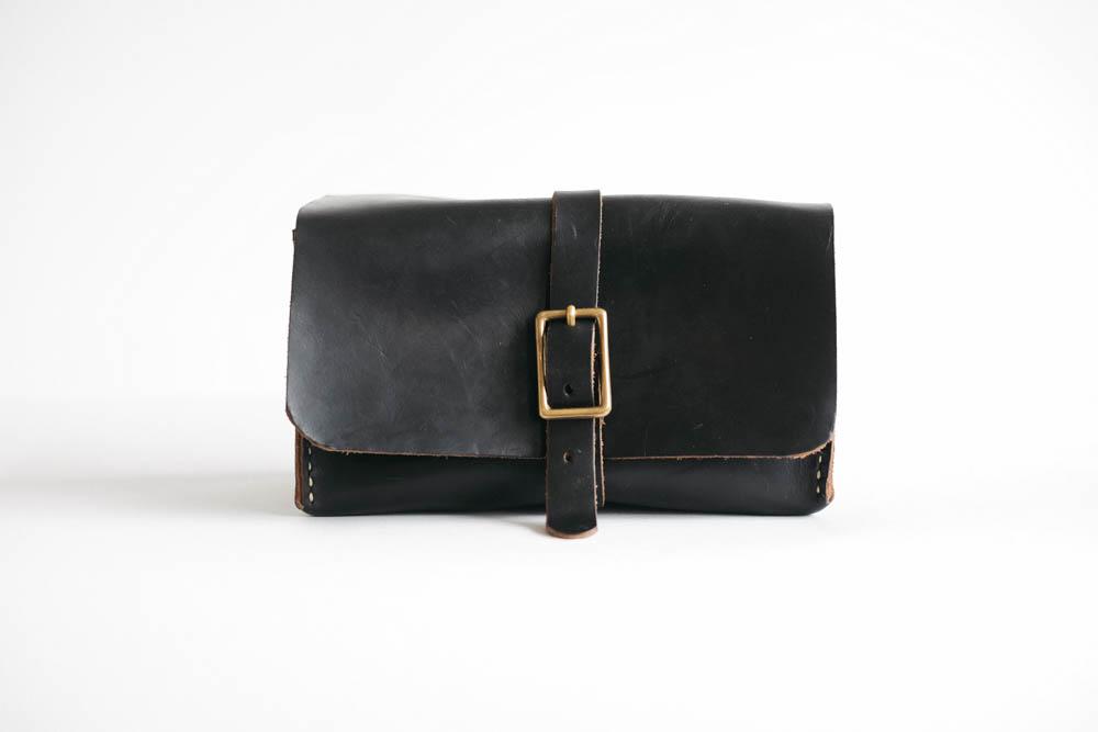 KMM & Co. Black Leather Dopp Kit