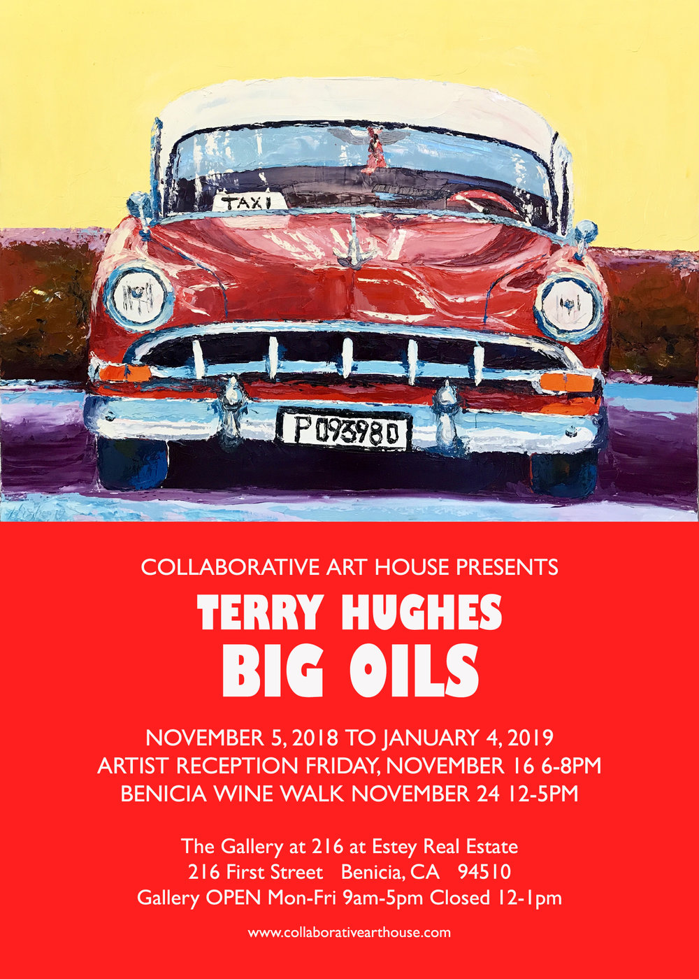 """""""BIG OILS"""" FEATURING NEW WORKS BY TERRY HUGHES SHOW RUNS NOVEMBER 5, 2018 TO JANUARY 4, 2019"""