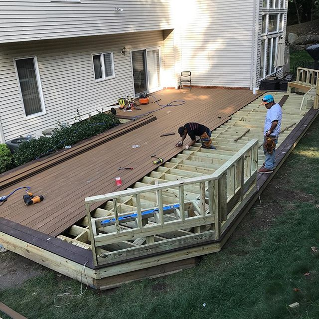 Contact us for all your decking needs! #deck #summer #grill #barbecue #framing #timbertech #bench
