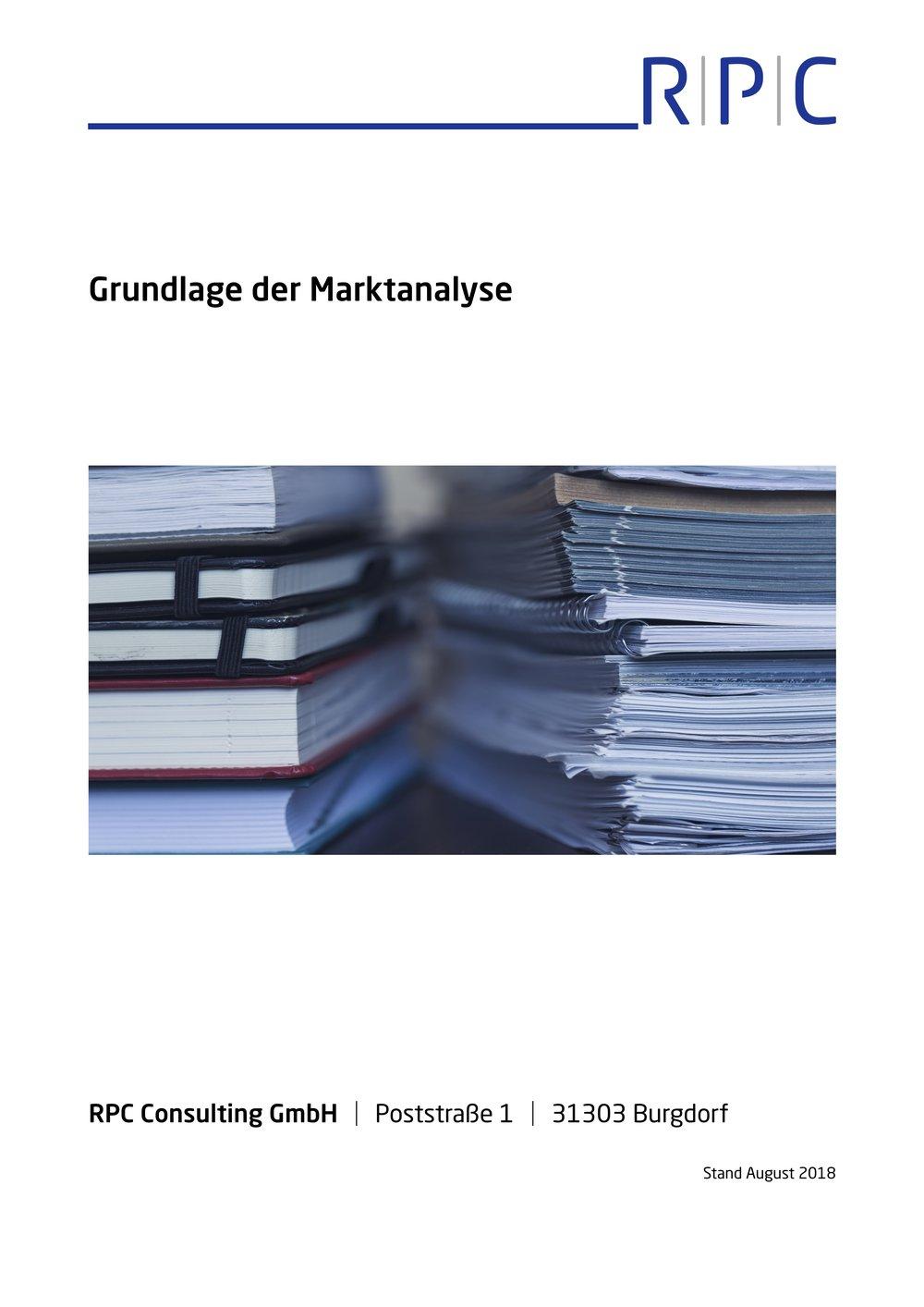 Marktanalyse - Grundlagen der Marktanalyse