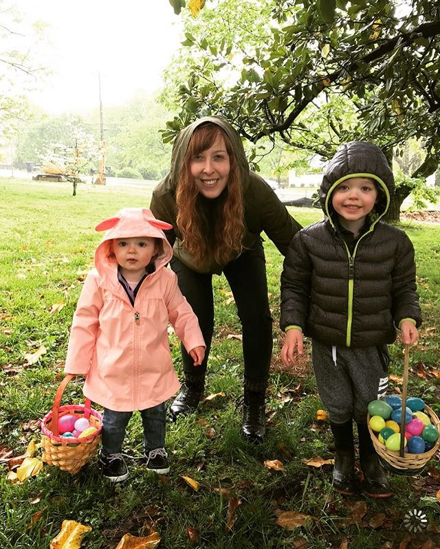 Cold and wet today.....but Easter egg hunt with friends + brunch was 🐸FUN🐸!