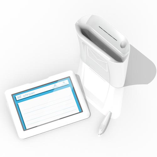 Letterbox - De d  igitale brievenbus   2014   Ontwerp van de 'Letterbox', de intuïtieve   communicatietool voor ouderen met cognitieve en motorische monitoring  .