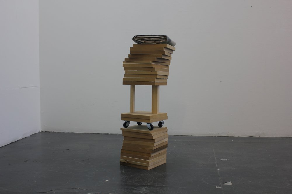 """Stack 2"" installation shot."